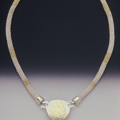 Sterling, 18K, 24K & Tourmaline Necklace