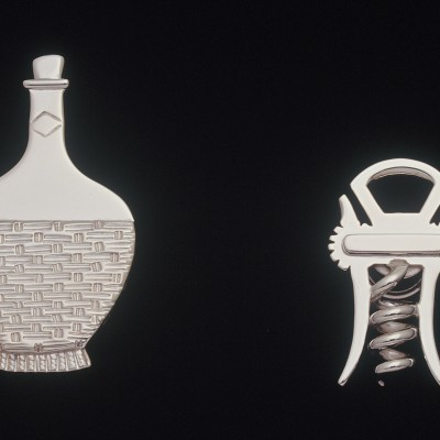 Cabinet Knobs, Chianti & Corkscrew: Sterling