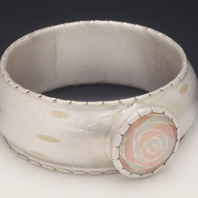 Pillbox Bangle: Sterling, Bronze, Copper & Nickel