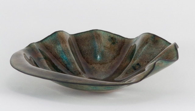 English Wheel Enameled Bowl