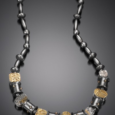 18K & Sterling Reversible Bead Necklace