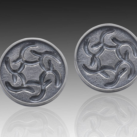 Low Relief Repousse' Earrings