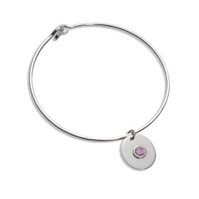 fARTlek Jewelry® Pink Ice Charm Bangle